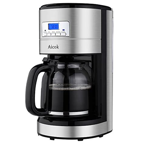 Aicok 12 Cup Coffee Maker, Drip Coffee Makers, Programmable Coffee Maker with Timer and Reusable