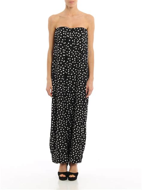 Dolce Jumpsuit polka dot silk charmeuse jumpsuit by dolce gabbana