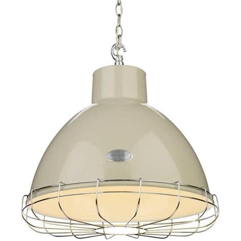Retro Industrial Ceiling Pendant Light In Cream With Metal Retro Ceiling Light