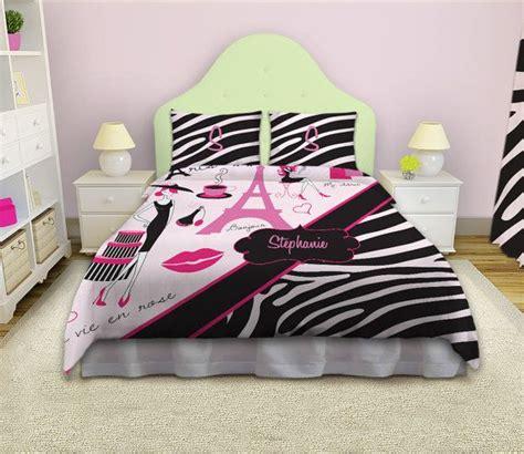 girls zebra print bedding paris theme bedding paris