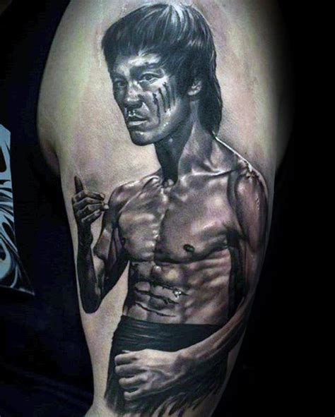 bruce lee tattoo 60 bruce designs for martial arts ideas