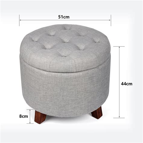 foot storage ottoman soft footstool storage ottoman stool with button