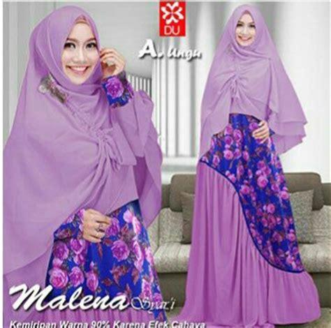 Jilbab Serut Polos Kombinasi baju gamis cantik malena syari a164 model busana muslim