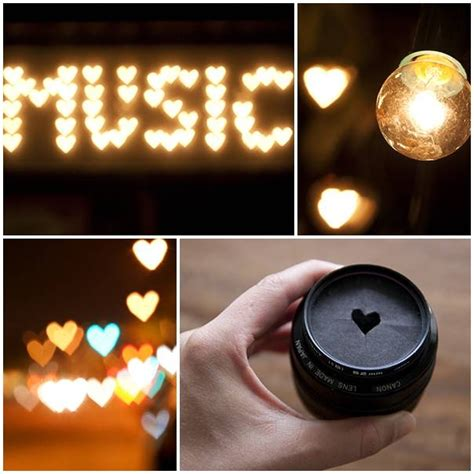 diy create your own heart shaped bokeh pictures photos