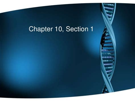 section 10 1 a chapter 10 section 1 cell division