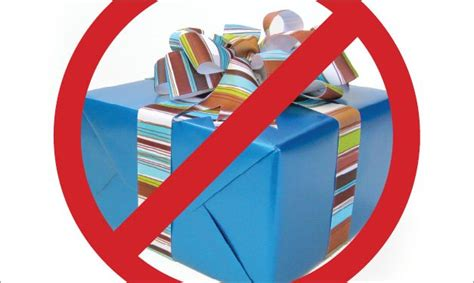 no gifts how to prevent birthday present