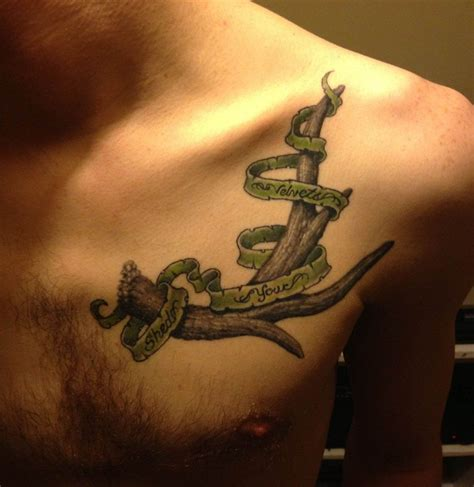 tattoo needles and ink antler tattoos antler after second session by needles at