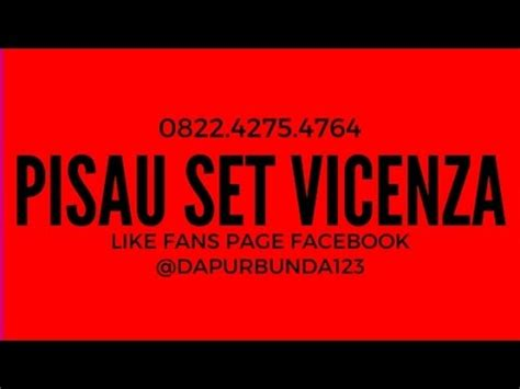 Pisau Set Vicenza Murah 0822 4275 4764 i jual pisau set vicenza i jual pisau set