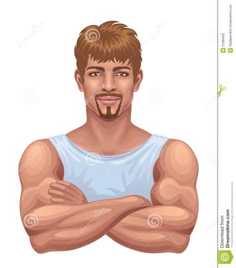 imagenes fuertes de niños atropellados hombre fuerte ilustraci 243 n del vector ilustraci 243 n de