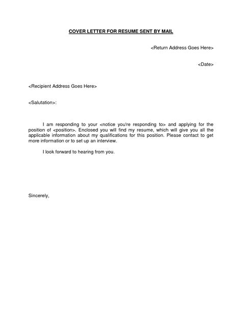 Cover Letter Template Via Email email resume cover letter template learnhowtoloseweight net