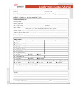 Change Of Status Cover Letter by Sle Employment Status Change Letter 8 Sle Employee