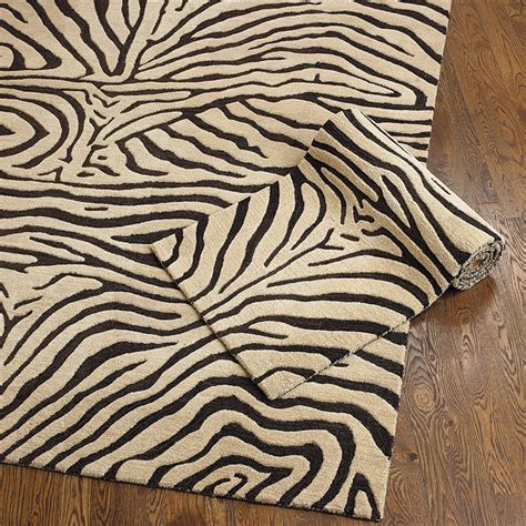 Ferrata Zebra Striped Rug Ballard Designs Zebra Rug
