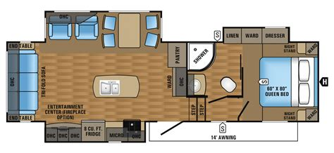 Jayco Fifth Wheel Floor Plans 2017 eagle ht fifth wheel floorplans amp prices jayco inc