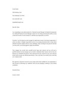 Cover Letter For Account Manager by Basic National Account Manager Cover Letter Sles And