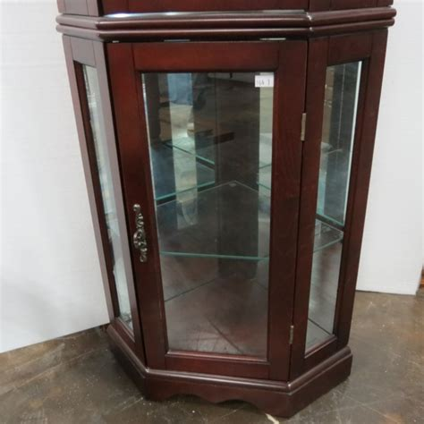 lighted corner curio cabinet cherry dark cherry lighted corner curio china cabinet