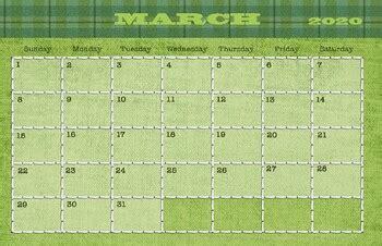 march  calendar   drawn  learn teachers pay teachers