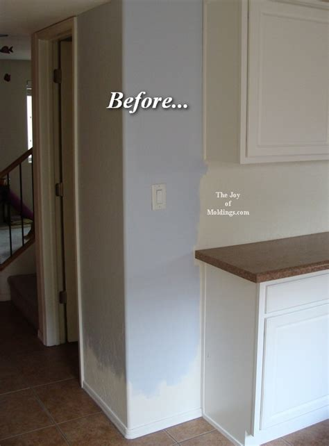 How To Paint Stained Kitchen Cabinets molding before amp afters archives the joy of moldings com
