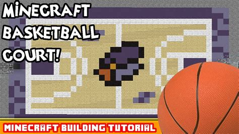 minecraft building tutorial how to build a basketball