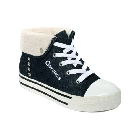 g by guess sneakers g by guess leighna sneakers in blue blue denim lyst