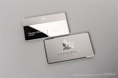 Mirror Business Cards mirror finishing