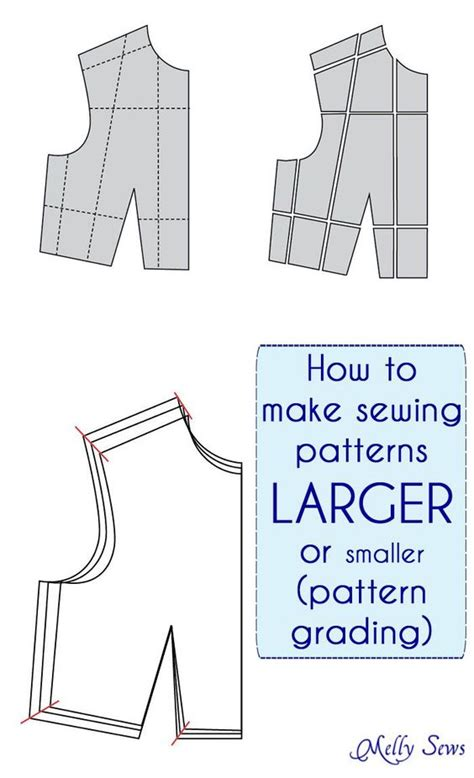 pattern making and grading how to make a sewing pattern bigger or smaller pattern