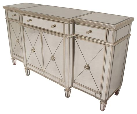 furniture mirrored buffet sideboard with wine rack furniture import export inc borghese mirrored