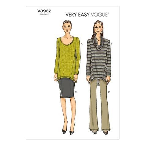 vogue patterns 9305 misses tunic and pants vogue misses tunic skirt and pants pattern v8962 size