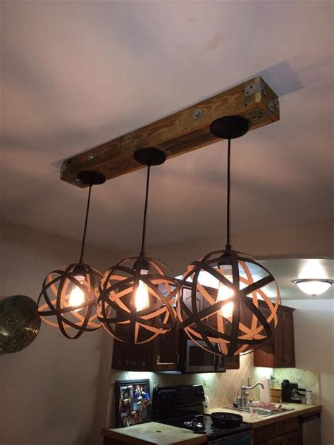 Diy Pendant Light Fixture Diy Light Fixtures Diy Pallet And Jar Light Fixture 101 Pallets Diy Kitchen Light Fixtures