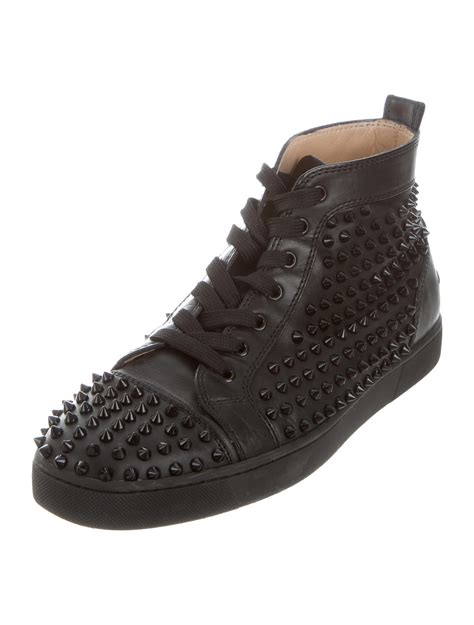 Christian Louboutin Spike Sneakers by Christian Louboutin Leather Louis Spike Sneakers Shoes Cht77872 The Realreal
