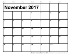 Blank Calendar Template November 2013 by November 2017 Calendar Excel Weekly Calendar Template