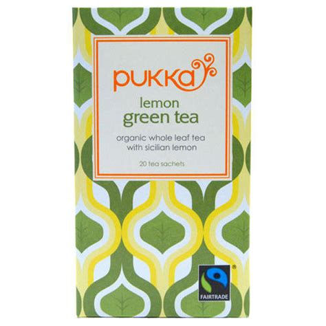 Pukka Detox Tea With Lemon by Green Tea In And Bags From Goodnessdirect
