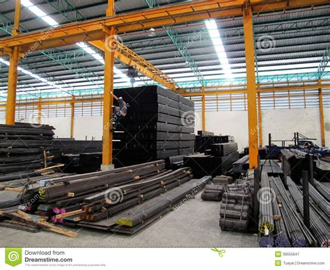 Steel Warehouse Storage Stock Image Image Of Structure Metal Fabricating Equipment Storage And Processing