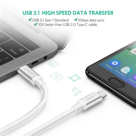 Kabel Data Multifungsi ugreen kabel data usb type c 3 1 to multifungsi 1 meter white jakartanotebook