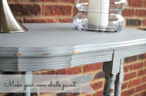 make your own chalk paint make your own chalk paint diy refinished end table