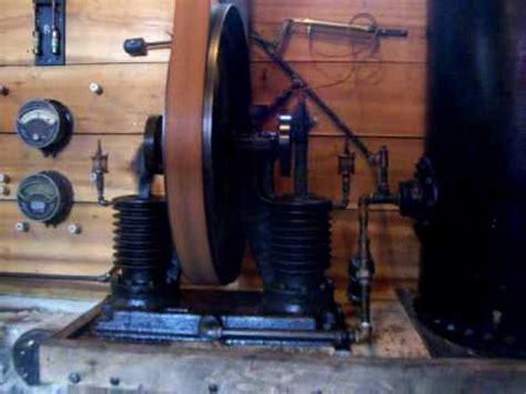 antique air compressor on line shaft
