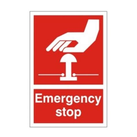 emergency stop (red) health and safety sign ssd