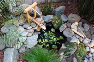 Rock Water Features For The Garden Bamboo Fountains Garden