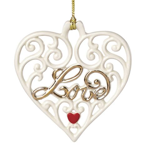 Love Pierced Heart   Lenox Christmas Ornament   Disney Ornament