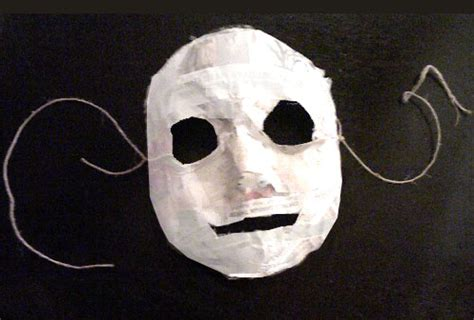 A Paper Mache Mask - of daniel just another weblog
