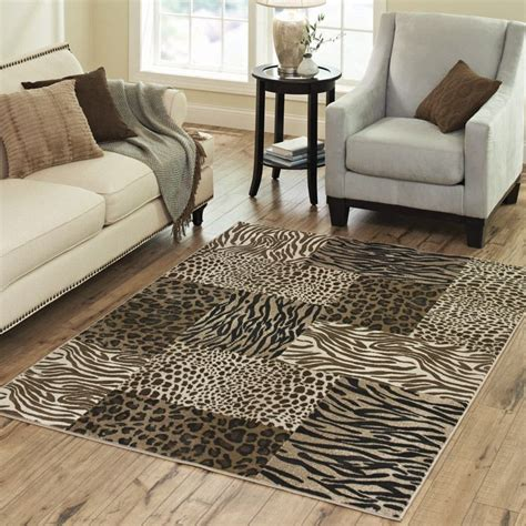 leopard print rug living room sensational cheetah print rugs homesfeed