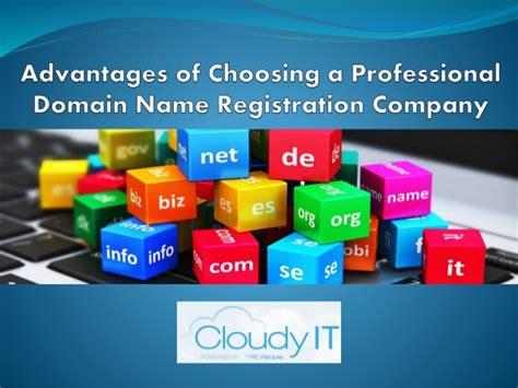 advantages  choosing  professional domain