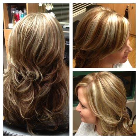 pinterest brown hair with blonde highlights white blonde chunky highlights with light brown hair