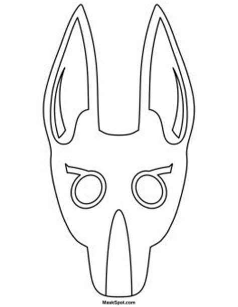printable anubis mask printable anubis mask to color proyectos pinterest