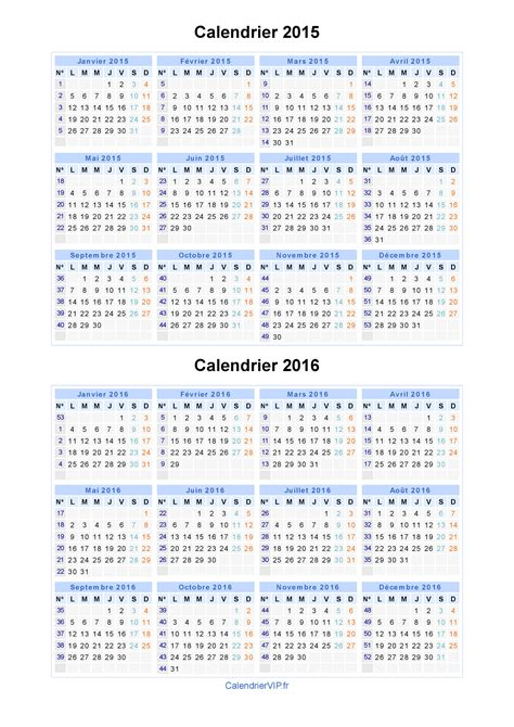Calendrier C A N 2015 Calendrier 2015 2016 224 Imprimer Gratuit En Pdf Et Excel