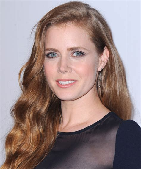 strawberry blonde haristyles for women in their 40s amy adams long wavy casual hairstyle medium red strawberry