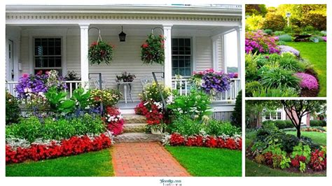flower design house 36 beautiful flower beds in front of house design ideas