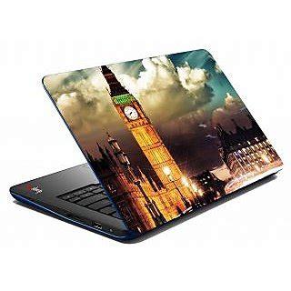 mesleep clock tower storm laptop skin