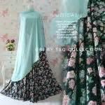Gamis Deniza gamis modern b083 denisa syar i motif bunga baju muslim