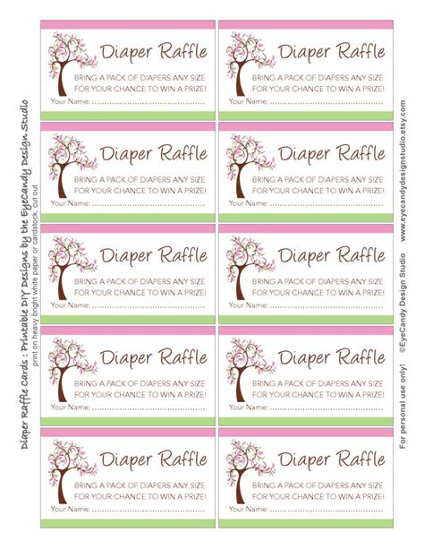 free printable baby diaper raffle tickets search results