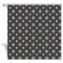 snowflakes on gray shower curtain by nature tees